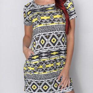 šaty4neonově žlutá