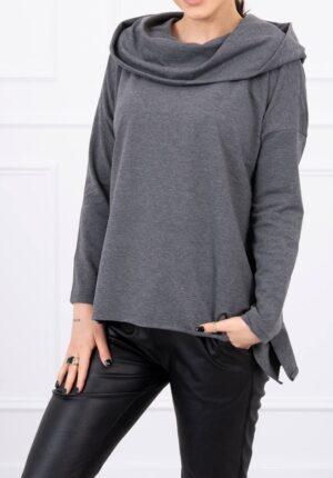 bluza šedý melír